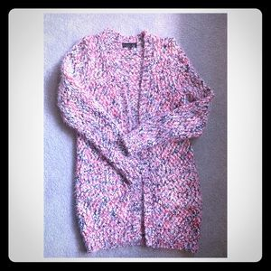 F&F cozy & soft open front cardi sweater w pockets